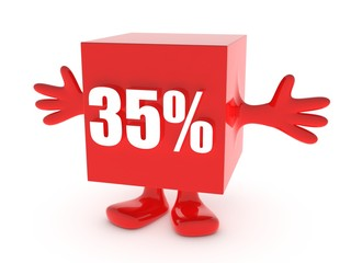 35 Percent off - discount happy figure