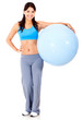 Fit woman with Swiss ball