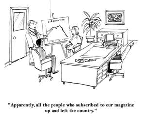 Magazine Subscriptions Declining