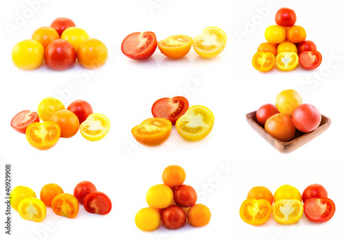 Colorful tomatoes, set of nine