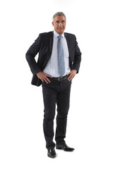 Full length mature businessman