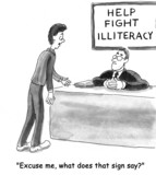 Fight illiteracy