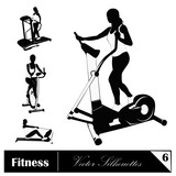 A vector collection of fitness silhouettes