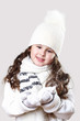 Cuty little girl in winter wear
