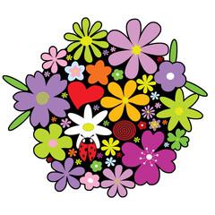 Bunter Frühlings Blumenstrauss zum Muttertag