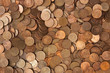 background of pile of coins