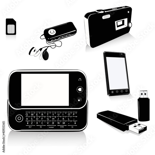 Multimedia Gadgets .Vector illustrations
