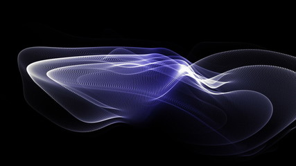 futuristic video animation with moving particle object