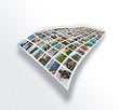 Les photos imprimées sur du papier