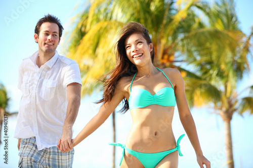 Couple having fun on beach