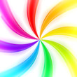 Abstract rainbow background made of twirls