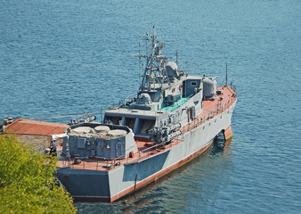 Russia's military ship and boat at Black sea, Ukraine