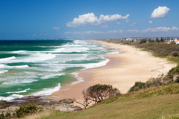 Caloundra beach from Point Cartwright, Queensland