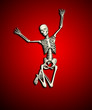 Happy Jumping Skeleton