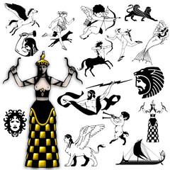 action mythology character design pitonisa enchanter