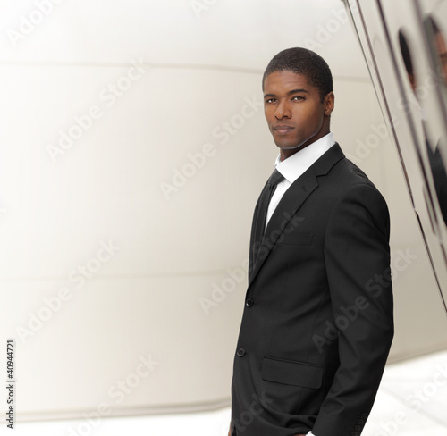 Businessman turning