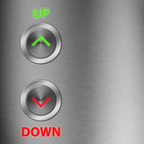 Up and Down metalic button with space