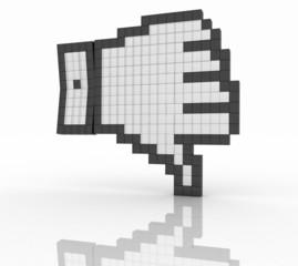 Unlike symbol on white background