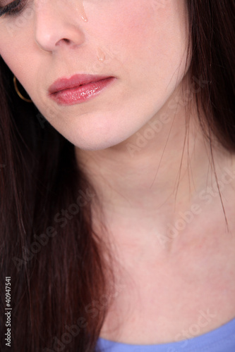 Close-up of brunette