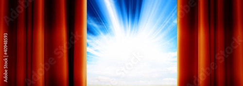 sunlight sky curtains