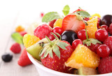 Fototapety isolated fruit salad