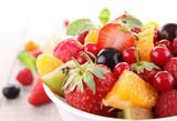 Fototapety isolated fruit salad