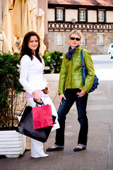 shopping in the city