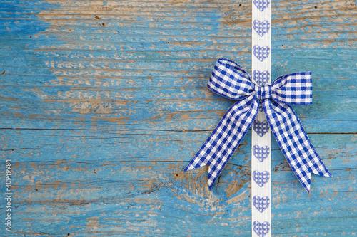 Blau - Schleife im Landhausstil