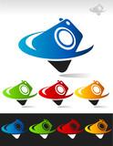 Swoosh Digital Cam Icon poster