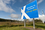 Welcome to Scotland sign at border