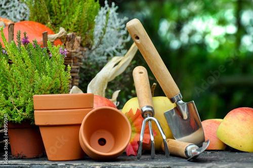 Gartenarbeit im Herbst