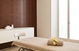 Interior of massage room in a spa salon