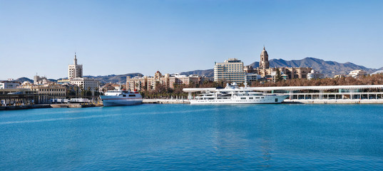 Malaga Harbour and City - Spain
