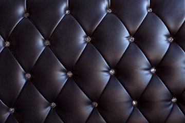 pattern and surface of sofa leather with crystal buttons
