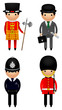London Character Vector Illustrations