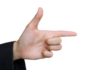 hand gun symbol