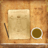 An illustration of a Vitruvian man
