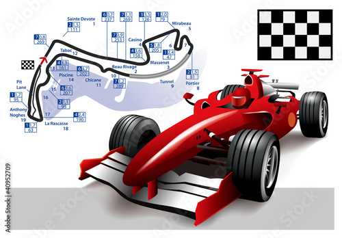 Fototapeta Poster Monaco Formula 1 Grand Prix