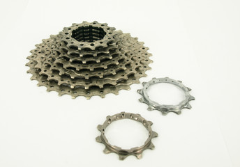 Bike Chain and Rear Cassette of a Mountain Bike
