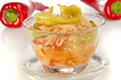 sour salad with cabbage and red pepper