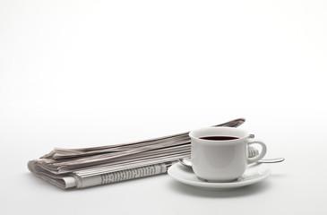 Zeitung und Kaffee