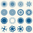Decorative design elements. Circle ornament. Vector set.
