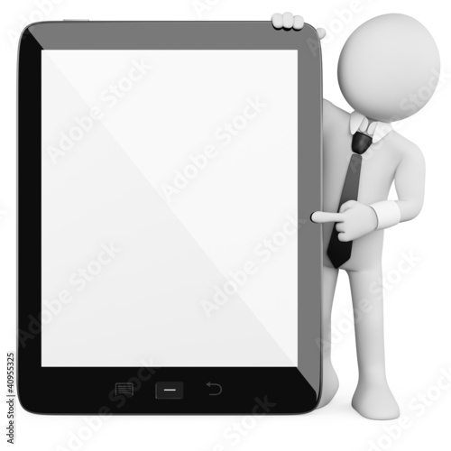 3D Businessman - Tablet