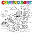 Coloring book with pirate theme 4