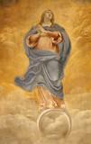 Rome - holy Mary fresco from San Luigi church