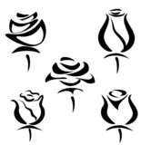 set of rose symbols