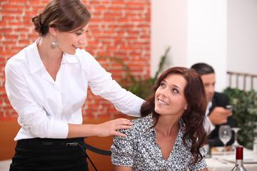 Women in Restaurant