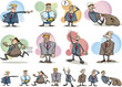 funny businessmen set