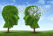 Leinwanddruck Bild - Living With Alzheimers