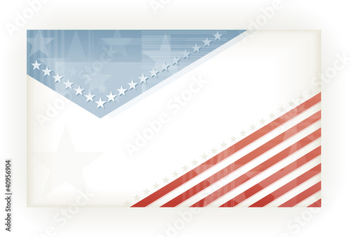 Stars and Stripes, background, business or gift card